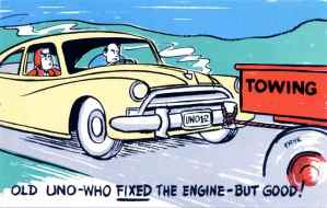 Old Uno-who Fixed the Engine...