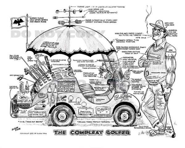 golf, golfing, golf cartoons. Compleat Golfer