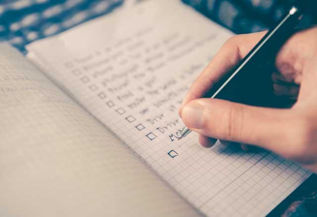 location courte durée checklist