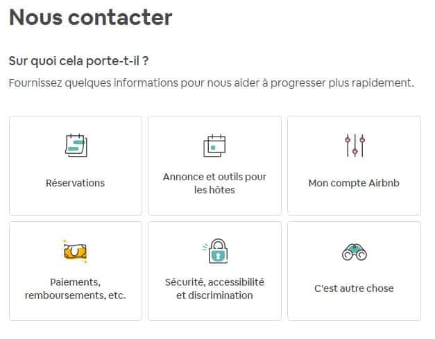 Centre d'aide Airbnb (source: Airbnb)