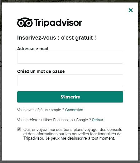 Connexion Tripadvisor