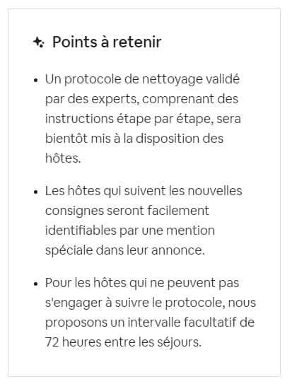 protocole hygiene et proprete airbnb resume tampon 72h