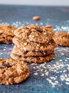 Cookies sans farine, sans gluten aux pépites de chocolat et purée d'amande