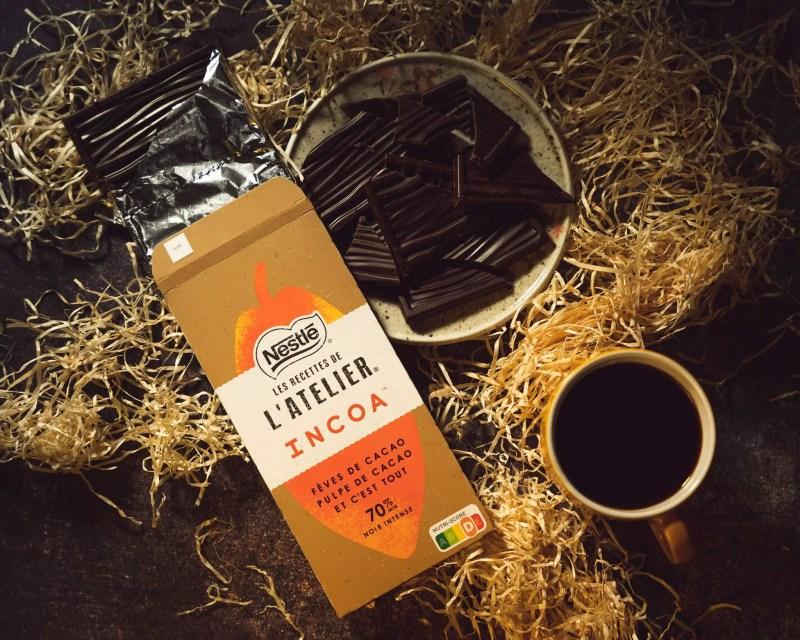 Incoa tablette chocolat noir pulpe cacao nestlé