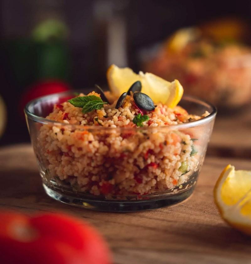 taboulé maison ou salade de semoule à la menthe
