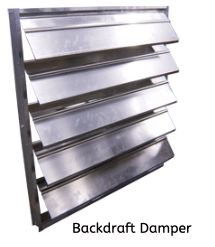 louvers and backdraft dampers