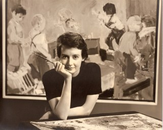 1962 Eleanor Dickinson studio portrait 2, San Francisco