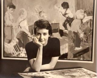 1962 Eleanor Dickinson studio portrait 2, San Francisco