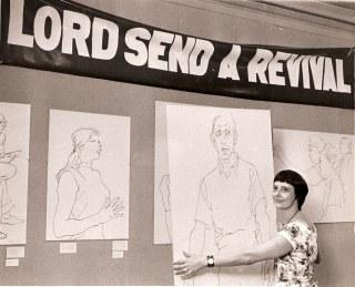 1974 Eleanor Dickinson Revival art exhibit
