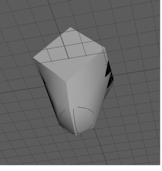 sculpting from a different angle. I really like how Maya is able to blend the sphere and cube together so easily