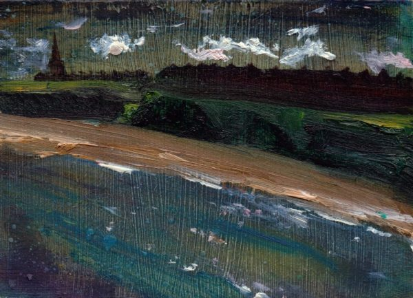 Coastal Dreams Cullercoats, Oil on Panel Eleanore Ditchburn