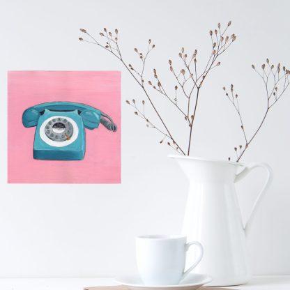 Teal Telephone by Eleanore Ditchburn at eleanoreditchburn.com