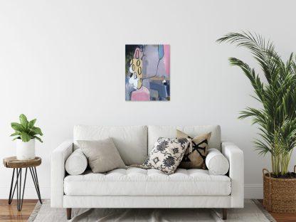 Medium Pink Abstract Living Room Mock Up