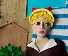 Original photograph: Untitled film still #21, 1978 by Cindy Sherman rendered in Play-Doh, 2015 © Eleanor Macnair