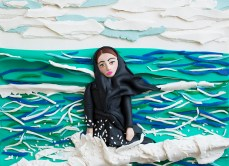 Original photograph: Imaginary CD cover for Sahar, Caspian Sea, Mahmoudabad, Iran, 2011 by Newsha Tavakolian rendered in Play-Doh by Eleanor Macnair