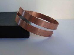 spiral copper bracelet