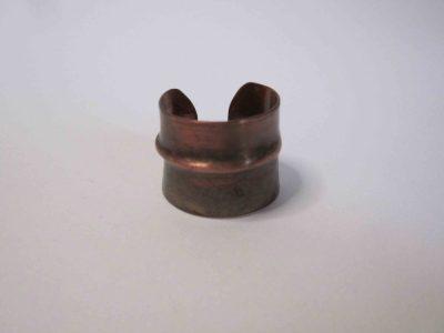 Dark patina fold formed ring