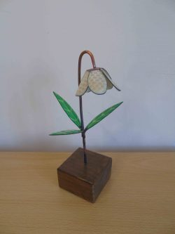 Fritillaria enamelled copper flower