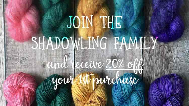 Join the Eleanor Shadow mailing list call to action - get 20% off your first purchase