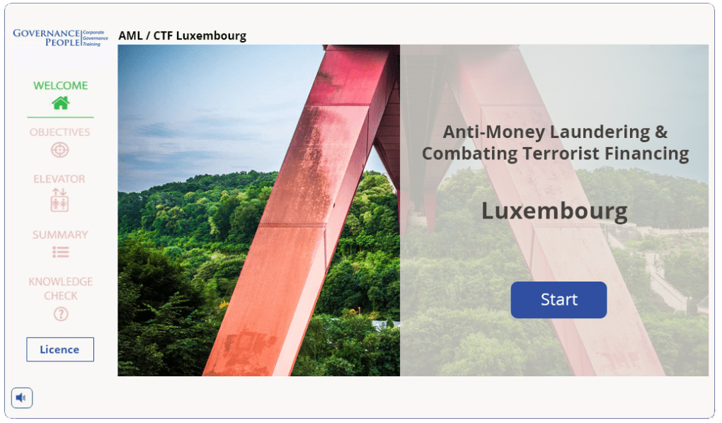 AML elearning course Luxembourg
