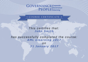Governance People AML CERTIFICATE