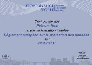 GDPR Certificate FR