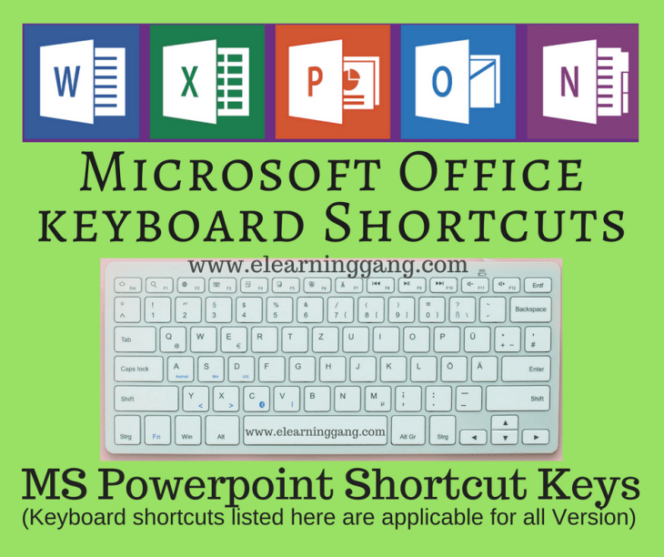 MS Powerpoint Shortcut Keys