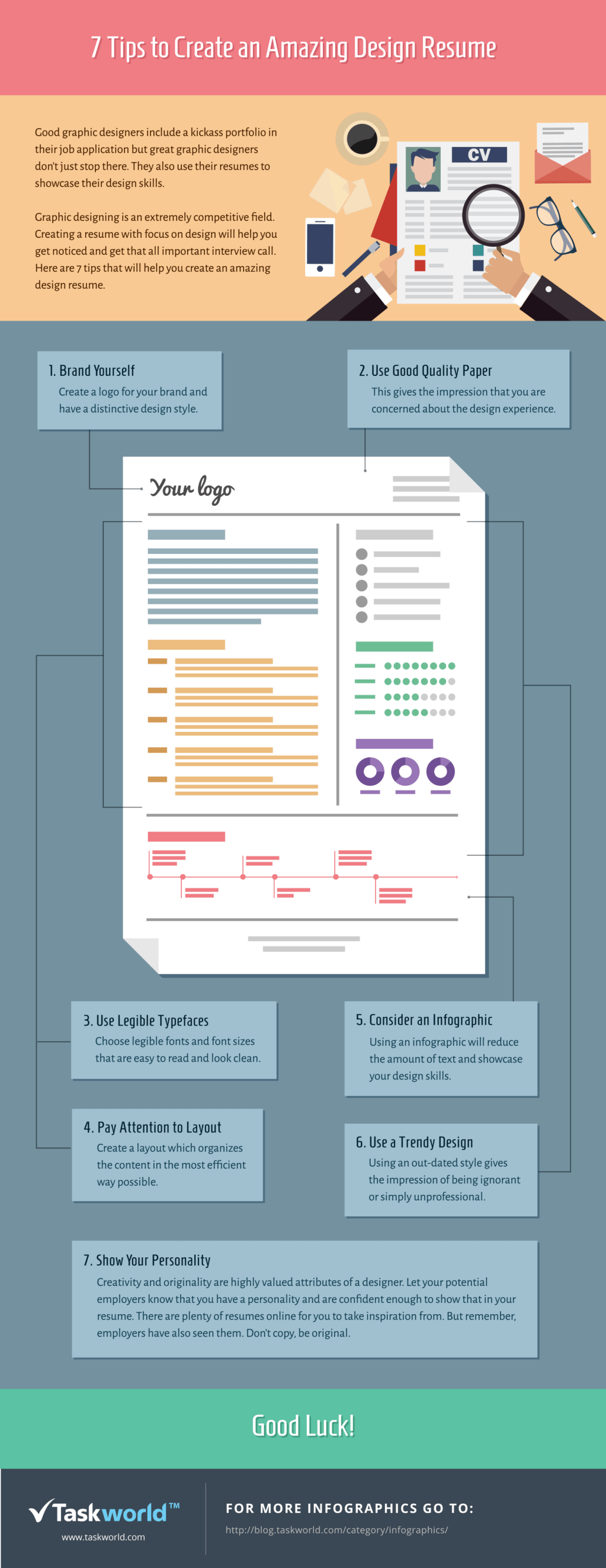 7 tips to create an amazing design resume infographic amazing