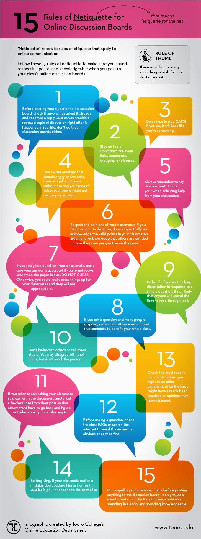 Netiquette-Online-Discussion-Boards-infographic