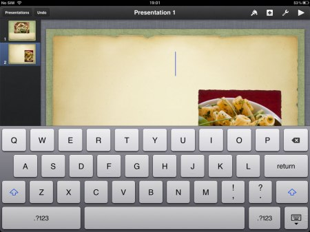 Editing is simple, for text double tap to edit a piece of text, or to enter text.