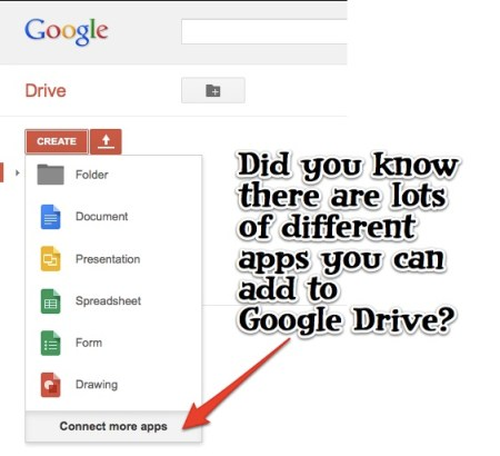 Adding Apps to Google Drive