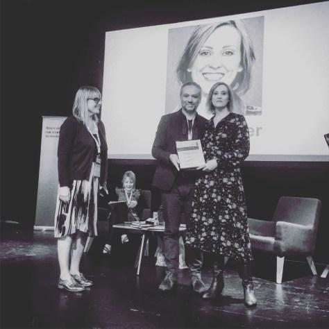 Josie Fraser receiving her Honorary Life Membership at #altc in 2017