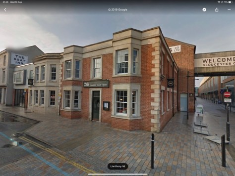 Google Street View of Gloucester Docks