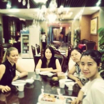 Business lunch with subcontractors in Beijing