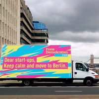 Haciendo campaña en Londres para ganar en Berlin
