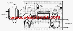 SCR DC motor speed control circuit using ICCMOS