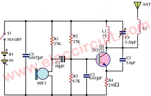 FM Wireless Transmitter Circuit
