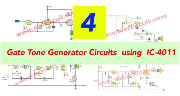4 Gate Tone Generator Circuits Using IC-4011