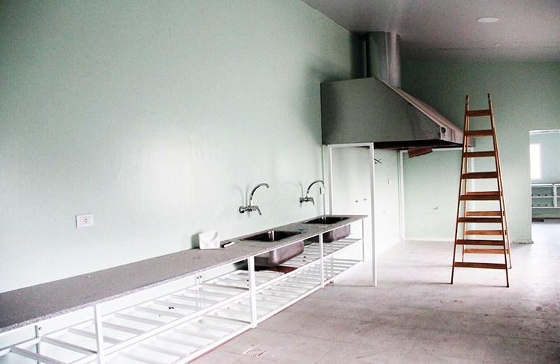 Última etapa de la sala de elaboración de alimentos