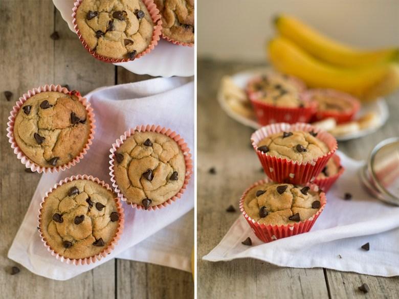 Muffins de Banana com Pepitas de Chocolate