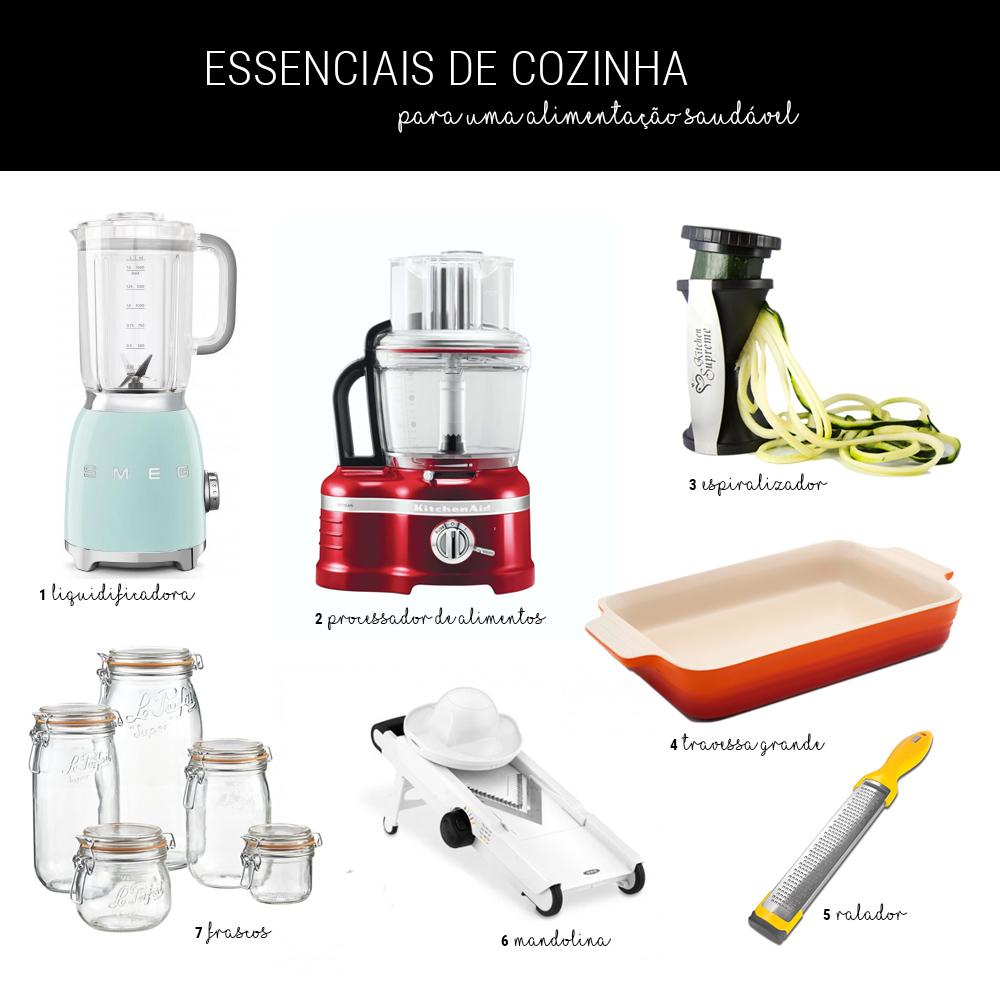 Essenciais de Cozinha para uma alimentação saudável