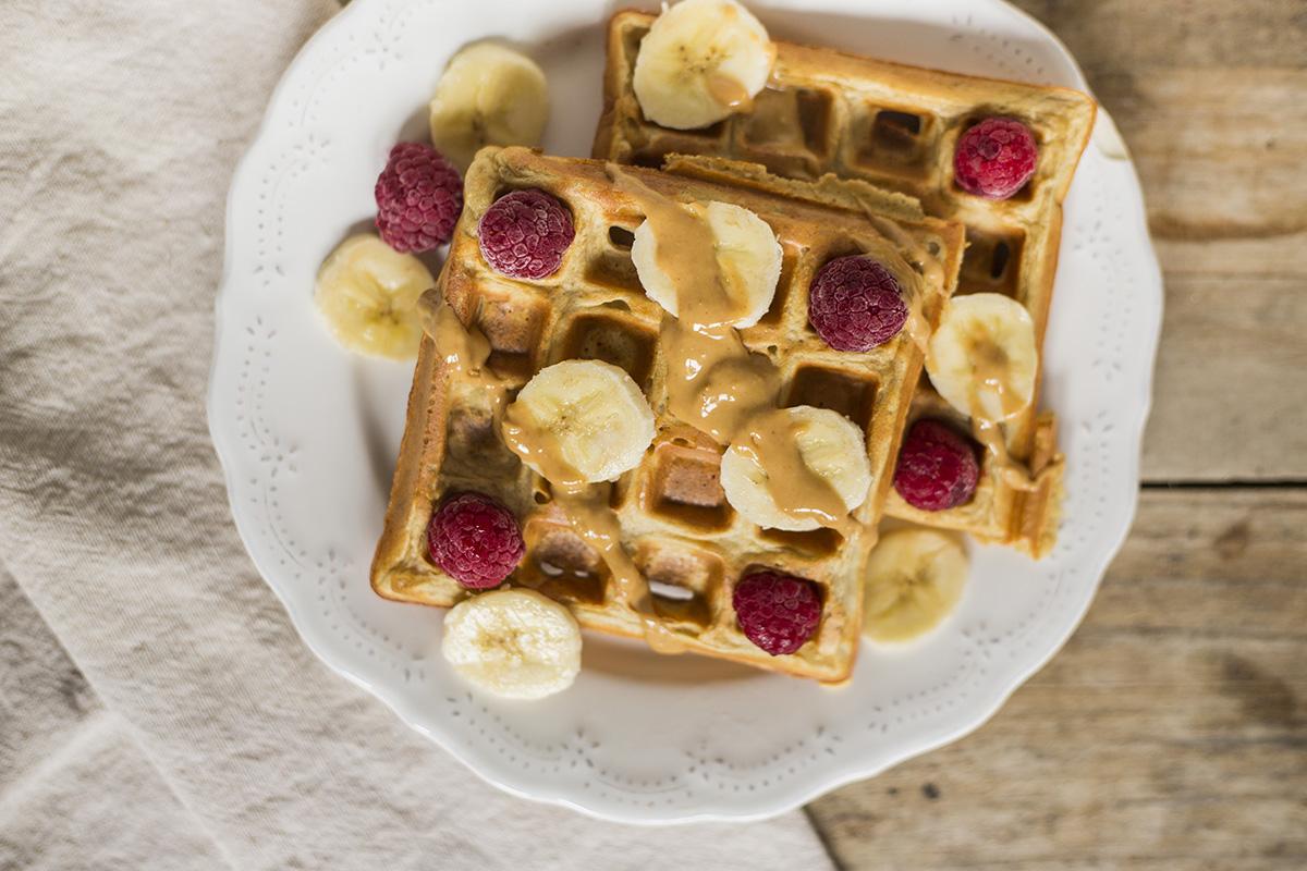 Receita de Waffles Saudáveis e Proteícos