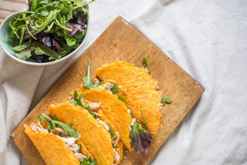 Receita de Tacos de Cenoura com Frango Desfiado