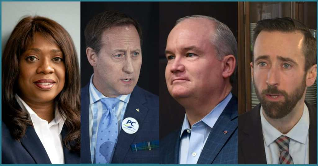 Four leadership candidates