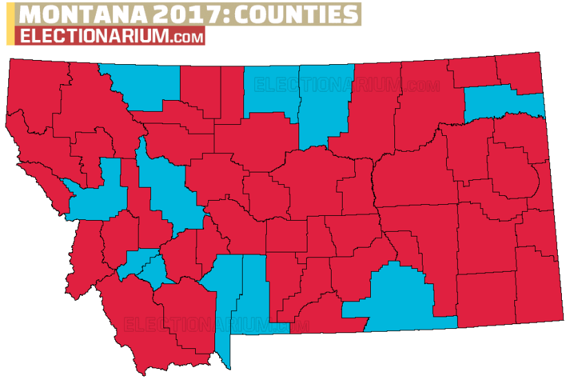 Montana Special Election county map