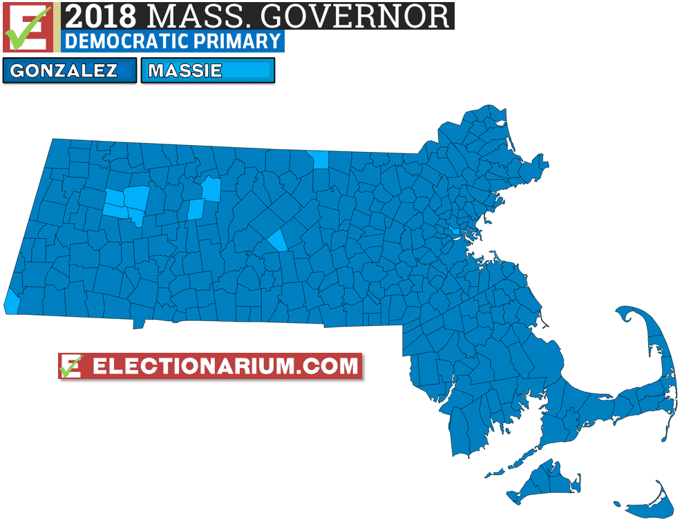 2018 Massachusetts Primary Results Democratic Governor Map