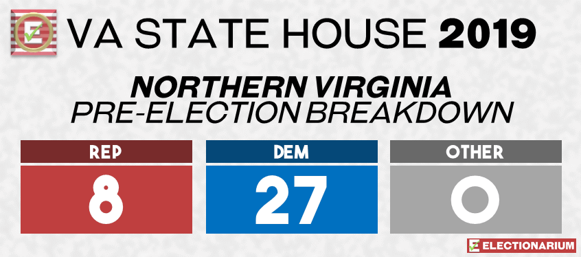 2019 Virginia State Legislature Elections - House Pre-Elex Northern Virginia