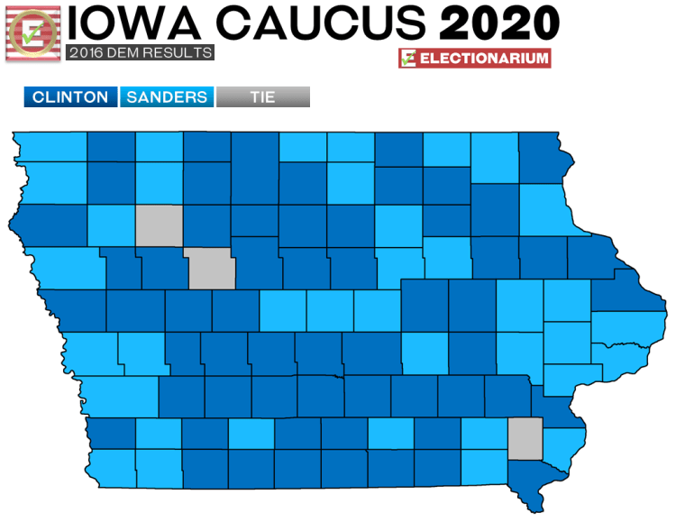 2016 Iowa Caucus results - Dem