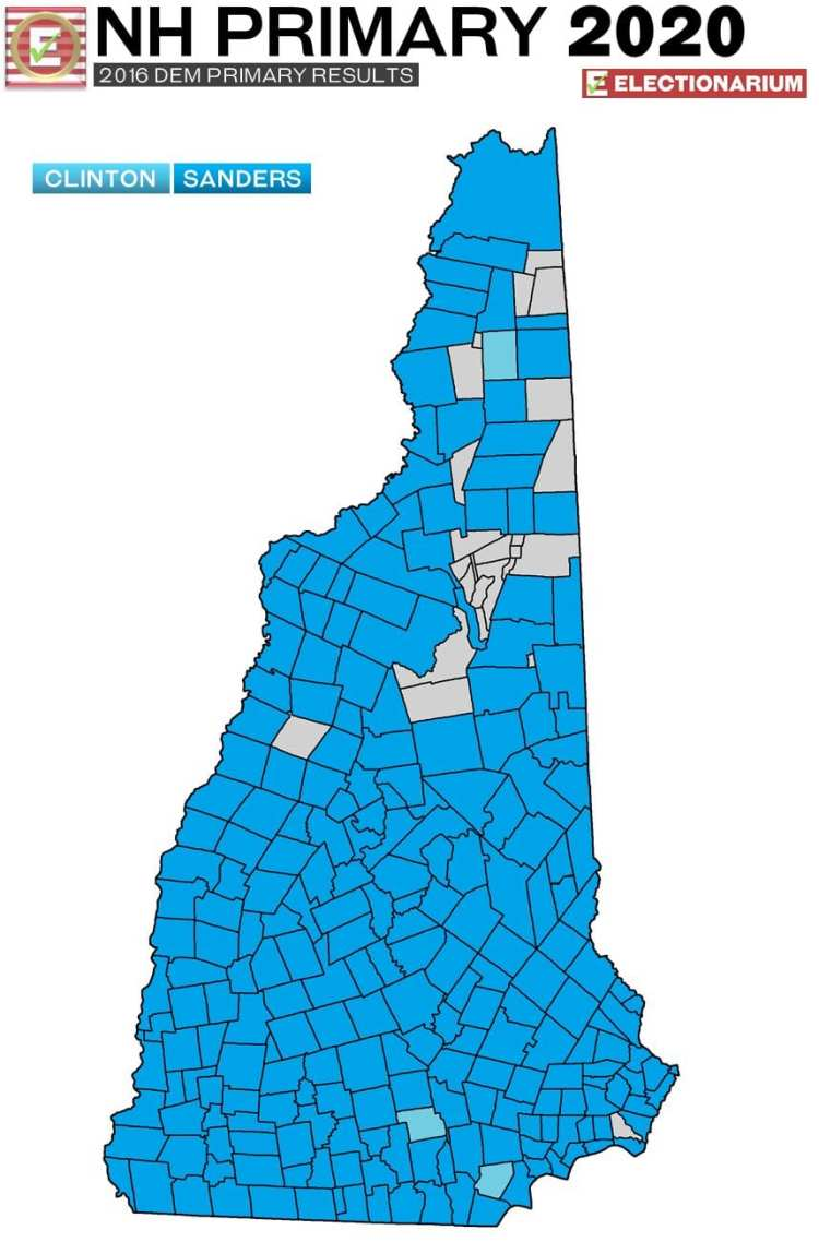 2016 New Hampshire primary results - Dem