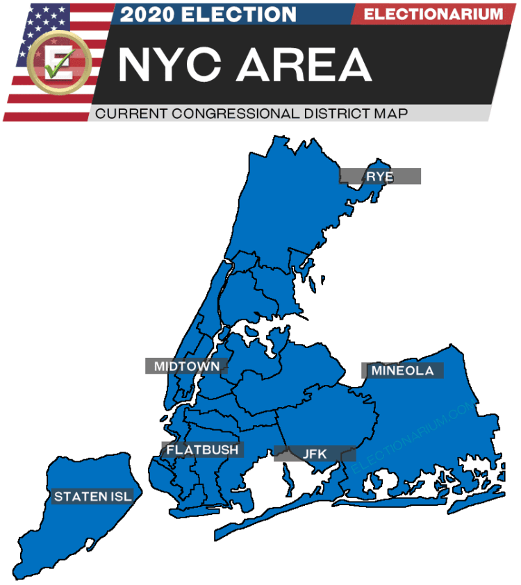 2020 New York House Races NYC Area - pre-election map